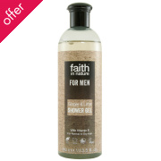 Faith In Nature Mens Ginger & Lime Shower Gel - 400ml