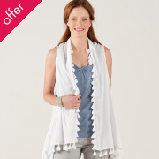Nomads 2 In 1 Waterfall Waistcoat & Scarf