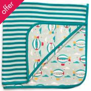 Zeppelin Baby Blanket - Aqua