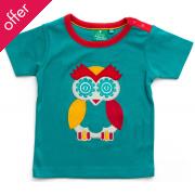 Owl Applique Tee - Blue