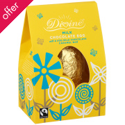 Divine Milk Chocolate Easter Egg with Caramel Bar - 110g