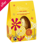 Divine Dark Chocolate Easter Egg with Caramel Bar - 110g