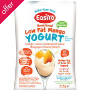 EasiYo Low Fat Sweet Mango Yoghurt - 215g