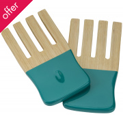 Kyoto Bamboo Salad Forks - Turquoise