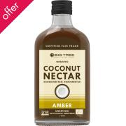 Organic Coconut Nectar Unrefined Sweetener - Amber - 240ml