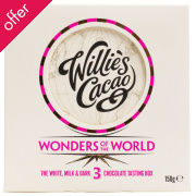 Willies Cacao 3 Wonders of the World Chocolate Tasting Box - 3 x 50g