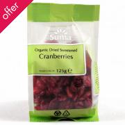 Suma Prepacks Organic Cranberries 125g