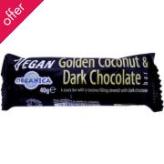 Organica Golden Coconut Dark Choc Bar 40g