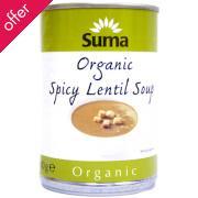 Suma Organic Spicy Lentil Soup 400g