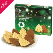 Traidcraft Christmas Tree Biscuits - 200g