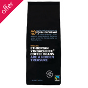Equal Exchange Organic Ethiopian Yirgacheffe Whole Coffee Beans - 227g