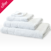 Fair Trade & Organic White Face Towel