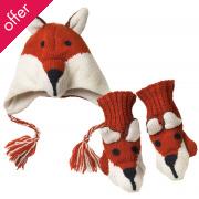 Pachamama Fox Hat And Mittens Set