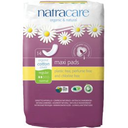 Natracare Organic Cotton Maxi Pads - Regular - 14