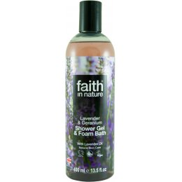 Faith In Nature Lavender & Geranium Shower Gel & Bath Foam - 400ml