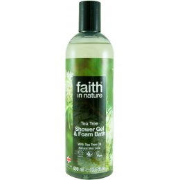 Faith In Nature Tea Tree Shower Gel & Bath Foam - 400ml