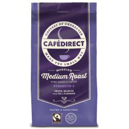 Cafedirect Medium Roast, Fresh Ground Fairtrade Coffee - 227g