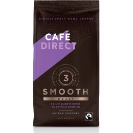 Cafedirect Smooth Roast Fresh Ground Fairtrade Coffee - 227g