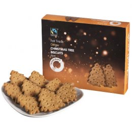Traidcraft Christmas Tree Ginger Biscuits - 170g