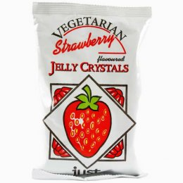 Just Wholefoods Jelly Crystals - Strawberry 85g
