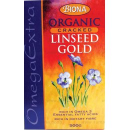 Biona Organic Linseed - Cracked Gold - 500g