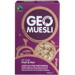 Traidcraft Fairtrade GeoMuesli - Fruit & Nut 750g