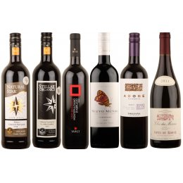 Box of 6 Organic Rich Red Wines