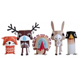Festive Friends Christmas Paper Animals Kit