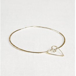 La Jewellery Recycled Silver Love Me Do Bangle