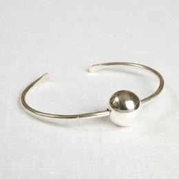 La Jewellery Recycled Silver Planet Bangle