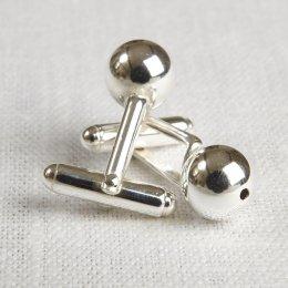 La Jewellery Recycled Silver Sphere Cufflinks test