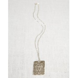 LA Jewellery Recycled Silver After the Storm Necklace for Him