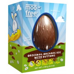 Moo Free Organic & Dairy Free Easter Egg with Buttons - 110g