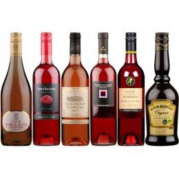 Box of 6 Valentine�s Ros� Wines & Cream Liqueur Pack test