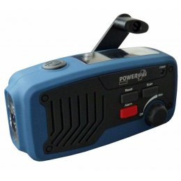 PowerPlus Panther Wind up & Solar Radio, Torch & Power Bank