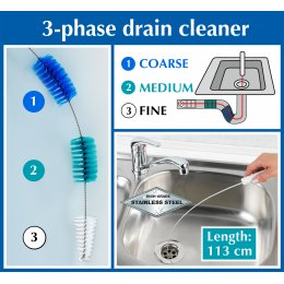 3-Phase Drain Cleaning Brush