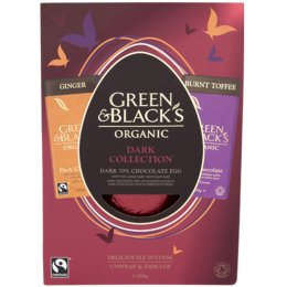 Green & Blacks Organic Dark Easter Egg with Bars 365g