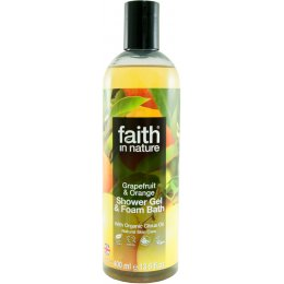 Faith In Nature Grapefruit & Orange Shower Gel & Foam Bath - 400ml