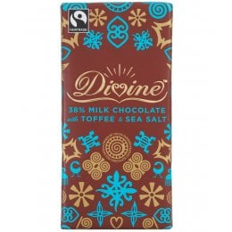 Divine Milk Chocolate with Toffee & Sea Salt 100g