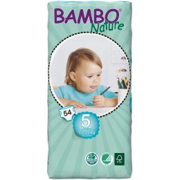 Bambo Nature Disposable Nappies - Junior - Size 5 - Jumbo Pack of 54