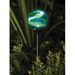 Solar Powered Murano Globe Light test
