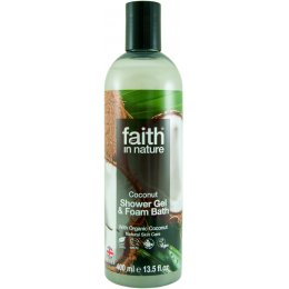 Faith in Nature Shower Gel & Foam Bath - Coconut - 400ml