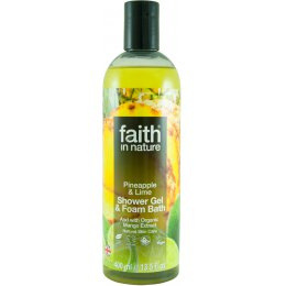 Faith in Nature Shower Gel & Foam Bath - Pineapple & Lime - 400ml