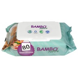 Bambo Nature Fragrance Free Baby Wipes - Pack of 80