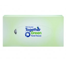 Traidcraft Together Green Recycled Facial Tissues - 110 Sheets
