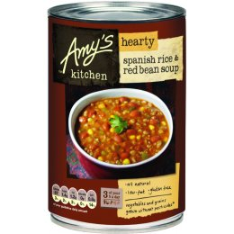 Amys Kitchen Hearty Spanish Rice & Red Bean Soup - 416g