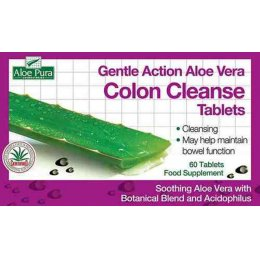 Aloe Pura Gentle Action Aloe Vera Colon Cleanse Tablets - 30 tablets