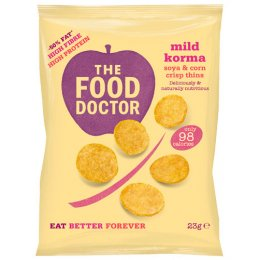 The Food Doctor Mild Korma Corn & Soy Crisp Thins - 23g