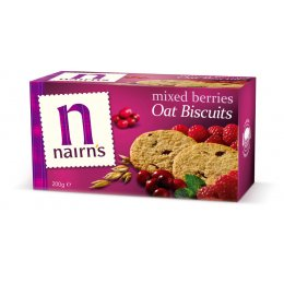 Nairns Mixed Berries Biscuits - Wheat Free - 200g