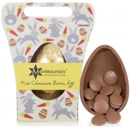 Montezumas Organic Chunky Button Easter Egg - Milk Chocolate - 250g